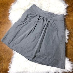 J.crew Gray A Line Skirt With Pockets